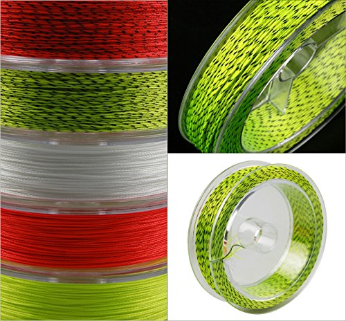 100M 20LB Fly Fishing Backing Line Abrasion Resistant Braid Fly Fishing Line Backing Fishing Line with Various Color (Yellow & Black (Pack of 1)) (Line Fly Yellow Backing)