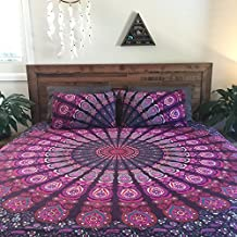 ndian Mandala DOUBLE Reversible Duvet Quilt Cover Bedding Set Ethnic Bohemian with pillows cover by Handloom Paradise