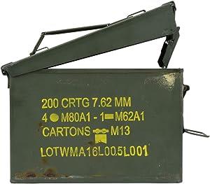 TG,LLC Treasure Gurus Military Metal Gun Ammo Can Steel Shotgun Ammunition Storage Box Rifle Bullet Crate
