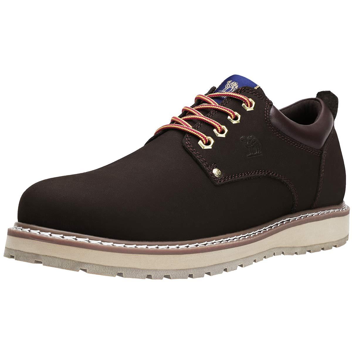 68df460e CAMEL CROWN Zapatos de Cordones para Hombre Oxford Zapatillas Casual Hombre  Vestir Derby, 41-