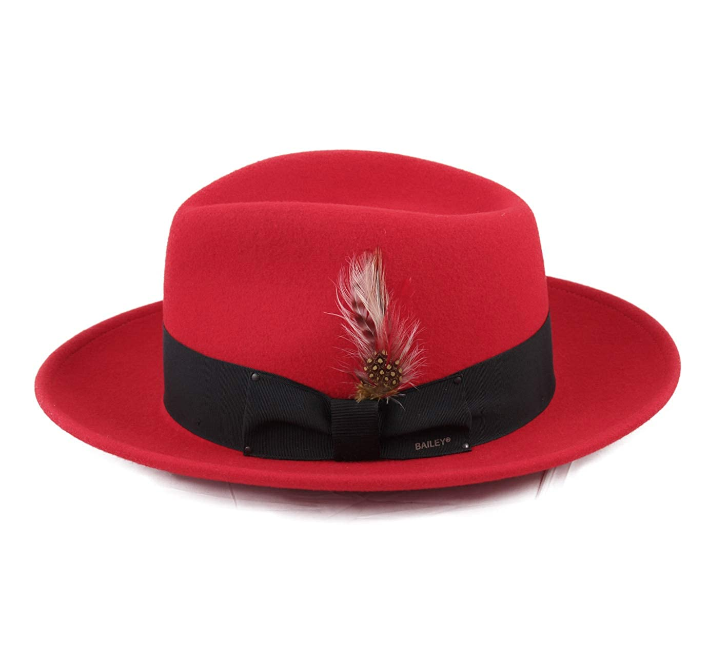 05557db37a3 Bailey of Hollywood Men s Fedora Wool Felt Fedora Hat Packable at Amazon  Men s Clothing store