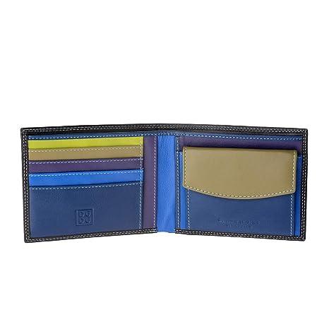 ba66d4a681 Portafoglio uomo in pelle Nappa colorato con portamonete e porta carte DUDU  Woods