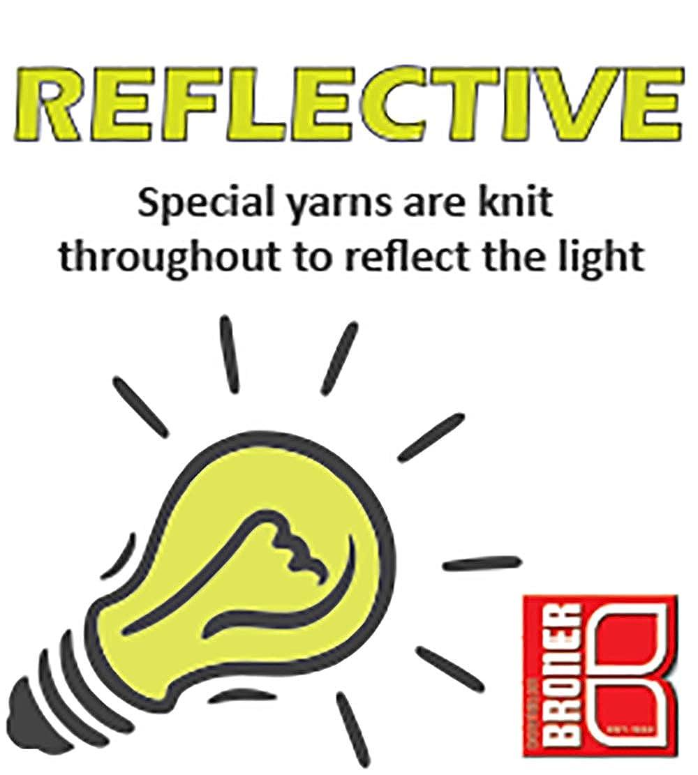 Broner Reflective Yarn Knit Cuff Cap with Full Fleece Lining