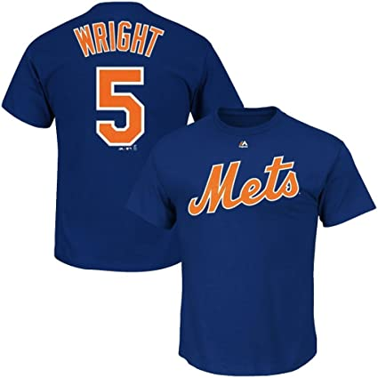 New York Mets Official MLB Majestic Kids Youth Size David Wright T-Shirt New