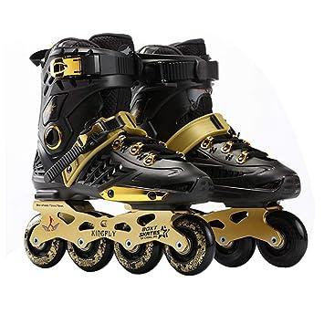Wafalano Fancy Zapatos de Patinaje Sobre Ruedas de una Sola línea Patines en línea de Adultos Patines Profesionales Zapatos universales para Hombres y ...