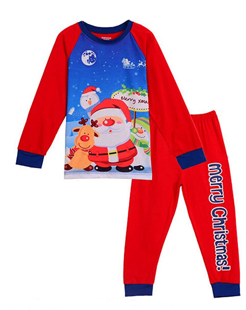 GSJammies Little Boys Christmas Pjs Long Sleeve Kid Pajamas Sets
