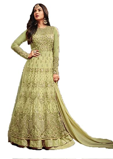 99a377651e4 Image Unavailable. Image not available for. Colour  Mahantam Designer  Women s Evoking Heavy Embroidered Worked Net Anarkali Salwar Suit ...