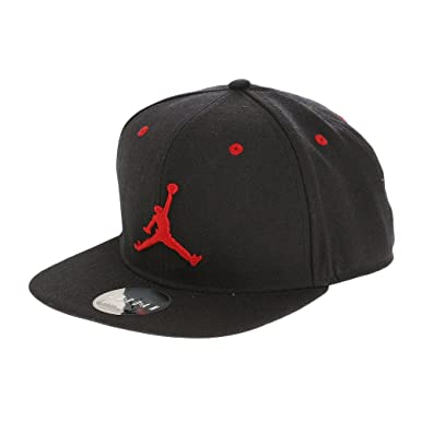 Nike Mens Air Jordan Jumpman Snapback Hat Black/Gym Red 619360-016