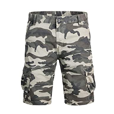 NINGNETI Pantalones Cortos de algodón de Moda para Hombres ...