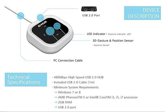 / JOYSTICK AIR/G-HUB 3D Sensor de movimiento para Mando de Voz gestuales para Smart HUB USB ratón/Zoom nvct Project manos libres: Amazon.es: Informática