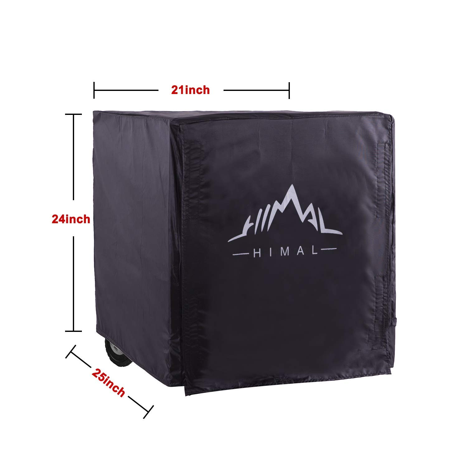 Himal Weather/UV Resistant Generator Cover 25 x 24 x 21 inch,for Universal Portable Generators 2200-5000 Watt, Black by Himal Outdoors (Image #2)