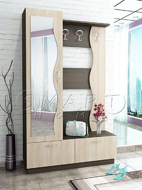 Gli Arredi di Maria Lia Mobile Ingresso Moderno con Specchio e Appendiabiti City 4006