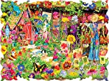 Beautiful Borders Collection The Scarecrow's Garden 750 piece puzzle By: Artist Aimee Stewart