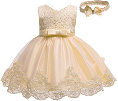 Walabe Robe Bebe Fille Ceremonie Dentelle