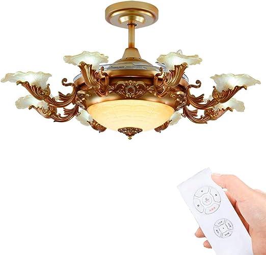 Ventilador de techo telescópico invisible de LED con ventilador de ...