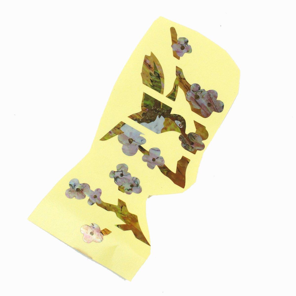 Fretboard Markers Inlay Sticker Decal for Guitar & Bass ,Ornate Bird & Flower