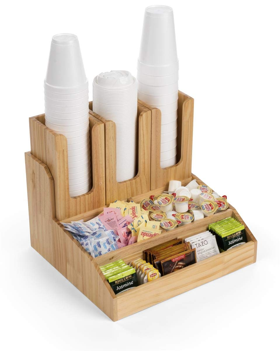 Displays2go Coffee Cup and Sugar Packet Holders – (FSWDCOTR6)