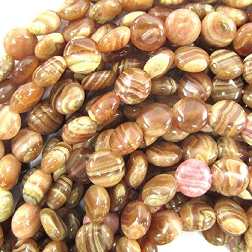 Rhodochrosite Oval Beads - 8