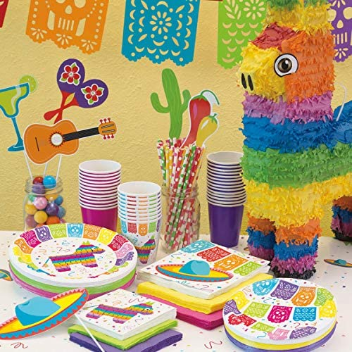 (Paper Napkins) - Unique Party 58682 - Mexican Fiesta Paper Napkins, Pack of 16