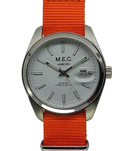 Reloj mec Vintage Hombre Cuarzo Acero Militar Deportivo Buceo Idea regalo: Amazon.es: Relojes