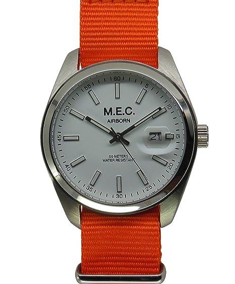 Reloj mec Vintage Hombre Cuarzo Acero Militar Deportivo Buceo Idea regalo