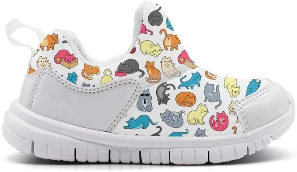ONEYUAN Children Meowers Colorful Cat Kid Casual Lightweight Sport Shoes Sneakers Running Shoes