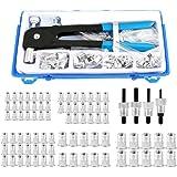 omufipw Rivet Nut Tool Kit Set Blind Rivet Nut Hand Riveter Wrench Threaded Insert Rivnut Nutsert M3-M8 86pcs
