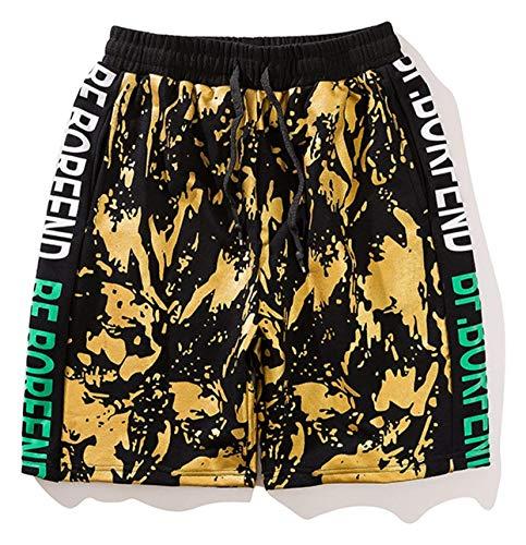 De Shorts Des Coton Sport yellow Fête 4 Cool Hip D'été Jeune Avec Mode Poke Vêtements Pantalon Rue Hommes Le Garçons Court Hop La Style fvnqwxpRCp
