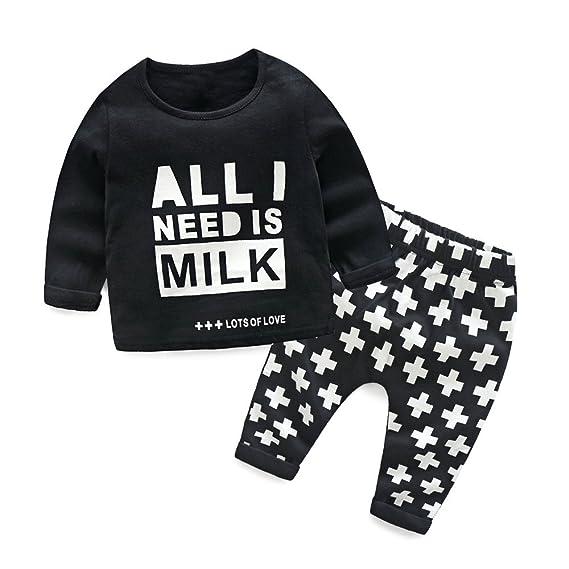 Covermason Bebé Unisex Lindo Animados Impresión Camisa y Pantalones para Niñas Niños (All I Need