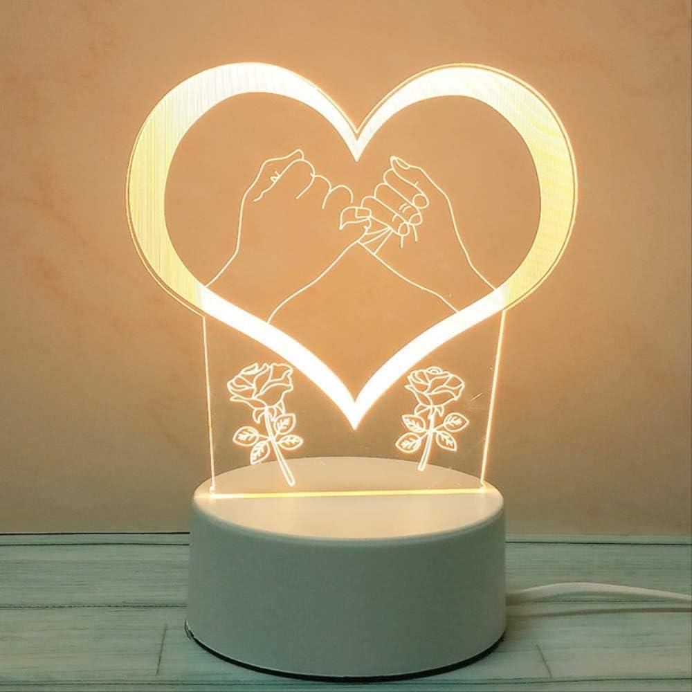 Regalo Luz de noche Aniversario Celebración de aniversario Regalo de cumpleaños Publicidad Logo Lámpara de mesa de acrílico personalizada De la mano