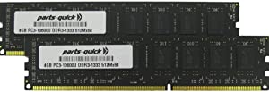 8GB (2 X 4GB) Memory Upgrade for HP Pavilion p6-2326s DDR3 PC3-10600 1333MHz Desktop DIMM RAM (PARTS-QUICK Brand)