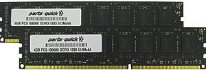 8GB (2 X 4GB) Memory Upgrade for Acer Aspire X1430G Series AX1430G-xxx DDR3 PC3-10600 1333MHz Desktop DIMM RAM (PARTS-QUICK Brand)