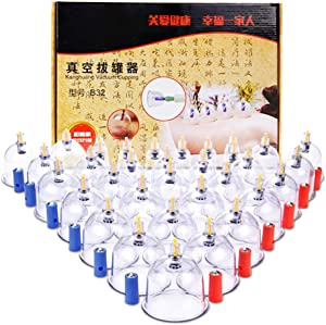 32 Cup pins Therapy Cups Effective Healthy Chinese Medical Vacuum Cupping Suction Therapy Device Body Massager Set