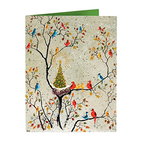 Christmas Cards Holiday Cards Merry Christmas Cards Boxed Christmas Cards Birds 15 w Envelopes (Christmas Cards With Birds)