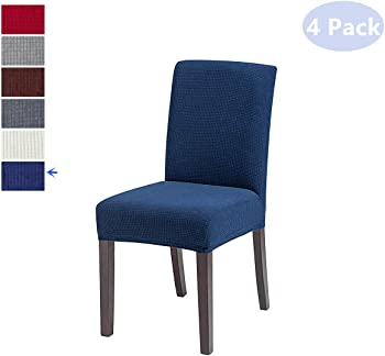 Tospania Stretch Short Dining Slipcovers Jacquard Fabric Chair