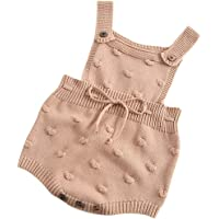 ARAUS Baby Overall Strick Romper Latzhosen Outfits Unisex Strampler