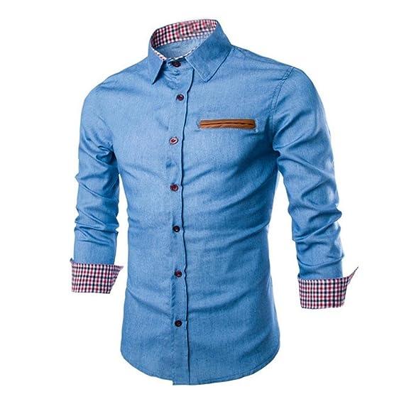 Camisa de hombre manga larga Camisas de vestir formales Slim Fitness Tops camisetas Blusa Camiseta Térmica de Compresión Amlaiworld: Amazon.es: Deportes y ...