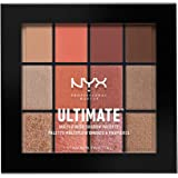 NYX PROFESSIONAL MAKEUP Ultimate Multi-Finish Shadow Palette, Eyeshadow Palette, Warm Rust