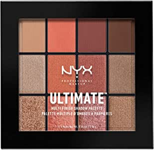 NYX PROFESSIONAL MAKEUP Ultimate Multi-Finish Shadow Palette 0.48 Ounce Warm Rust