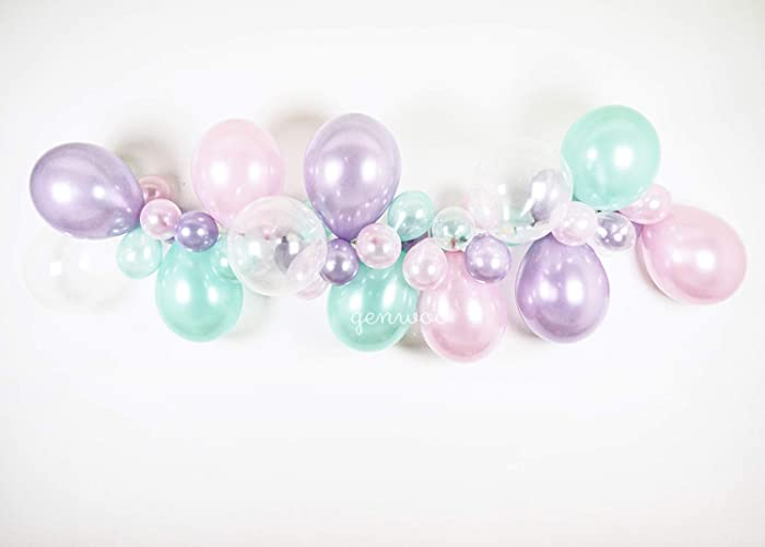 Mermaid And Unicorn Balloon Garland Arch Party Decor