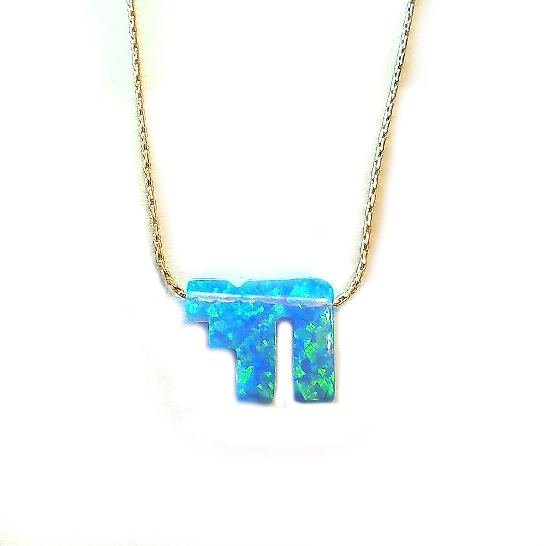 Amazon jewish chai symbol blue opal pendant gold filled chain amazon jewish chai symbol blue opal pendant gold filled chain necklace jewelry buycottarizona