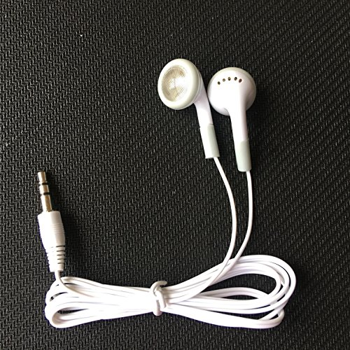 Wholesale Wired Cell Phone Headsets Bulk Earbuds Headphones 100 Pack For Iphone, Android, MP3 Player - White