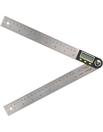 YOTINO Medidor de ángulos Digital 20cm y 0-360°, Regla de Medición de