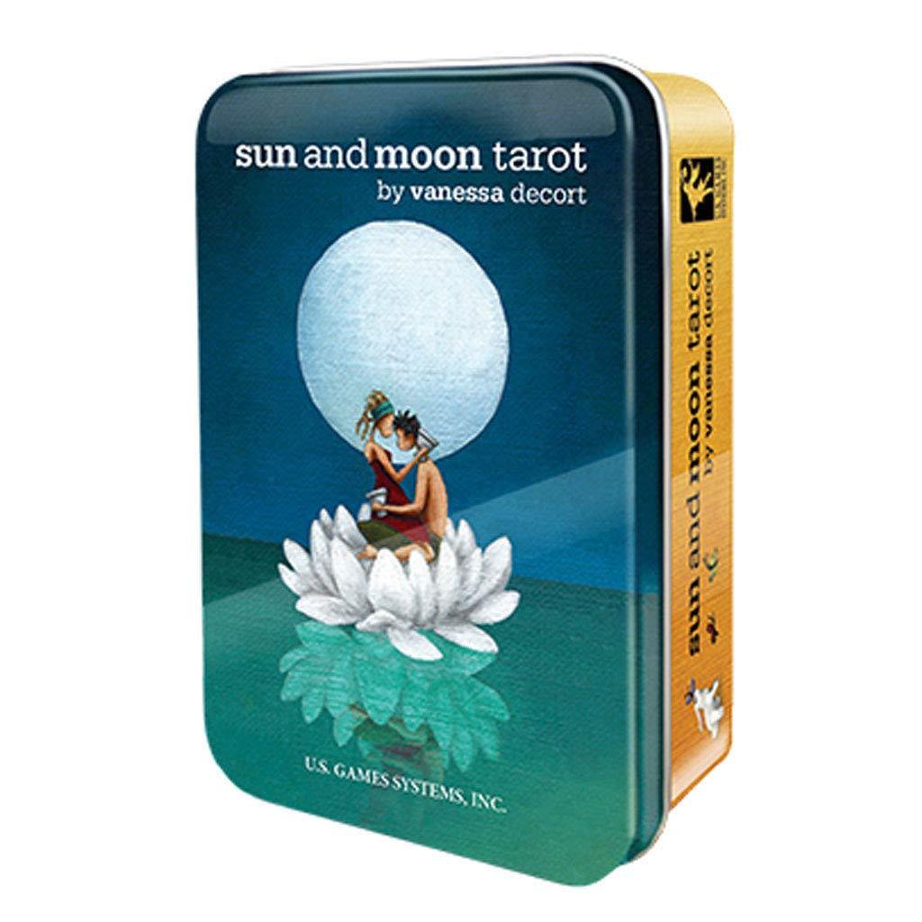Anya Nana New Sun and Moon Tarot Deck in Collectible Tin Mini Cards Travel Size!