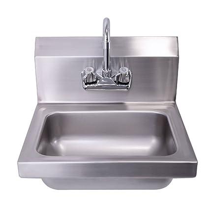 Amazing Amazon Com Wall Mounted Kitchen Hand Wash Sink Nsf Download Free Architecture Designs Scobabritishbridgeorg