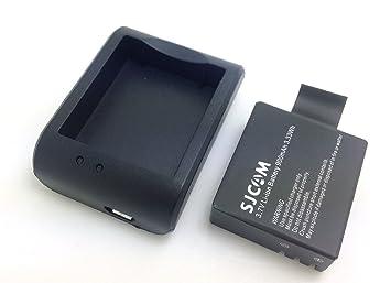 SJCAM cargador original + 3.7V 900mAh SJCAM Batería Original Para M10 SJ4000 SJ5000 SJ5000 + cámara del deporte