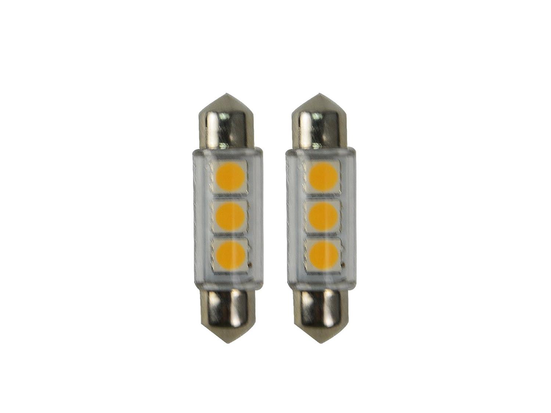 Njytouch 6pcs 36/mm 9SMD 5050/211/LED blu siluro mappa interni lampadine DC 12/V