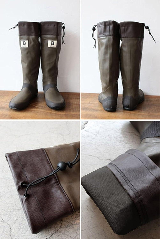 [日本野鳥の会] バードウォッチング長靴 ブラウン