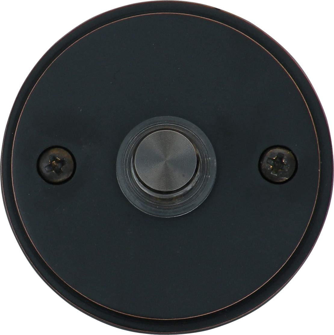 Knoxx Hardware BBP4LBXORB Oil Rubbed Bronze 2.5'' Lighted Dolly Door Bell Button, 1-Pack