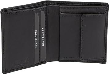 Portemonnai cognac Brieftasche klassisch viele Karten Buchform LEAS Echt-Leder